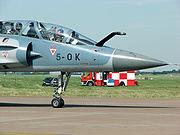 Mirage 2000B nose close up.