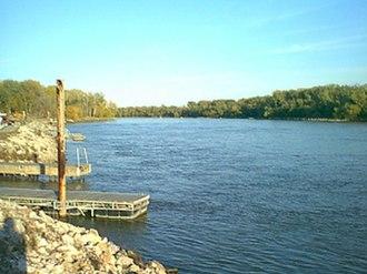 Dodge Park - Image: Missouri river in Omaha, Nebraska