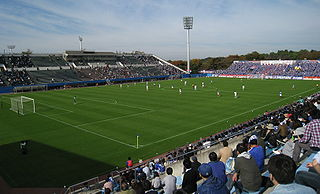 NHK Spring Mitsuzawa Football Stadium Building in Kanagawa-ku, Kanagawa Prefecture, Japan