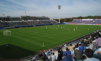 Yokohama F. Marinos - Mitsuzawa Stadium, one of the two home stadiums of the Yokohama F. Marinos