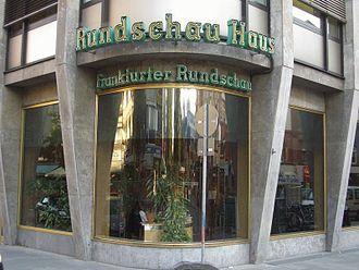 Frankfurter Rundschau - The former Rundschau-Haus at the Eschenheimer Tor.