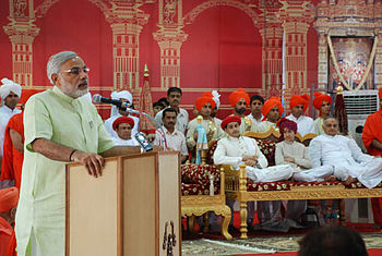 English: Gujarat Chief Minster Narendra Modi a...