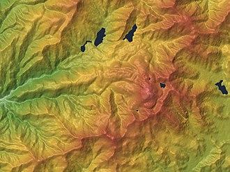 Mount Nikkō-Shirane - Image: Moiunt Nikko Shirane Relief Map, SRTM 1