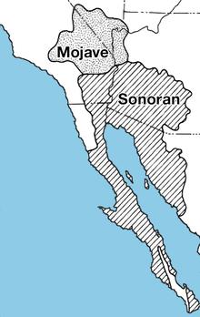 Posizione del Mojave e del deserto di Sonora. Fonte: USGS