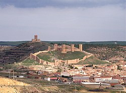 Skyline of Molina de Aragón, Spain