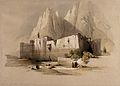Monastery of St. Catherine at Mount Sinai. Coloured lithogra Wellcome V0049442.jpg