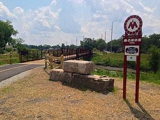 Monon Trail - Image: Monon Trail across Little Calumet River