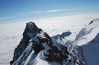 Summit - View from the summit of Switzerland's highest, Monte Rosa
