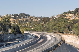 Montecito Heights, Los Angeles - Viewed from Pasadena Ave. bridge