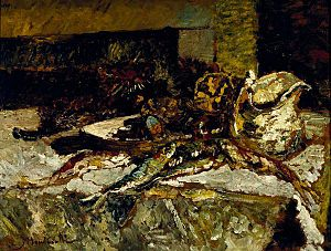 Adolphe Monticelli - Still life with Sardines and Sea Urchins, 1880–1882, Dallas Museum of Art