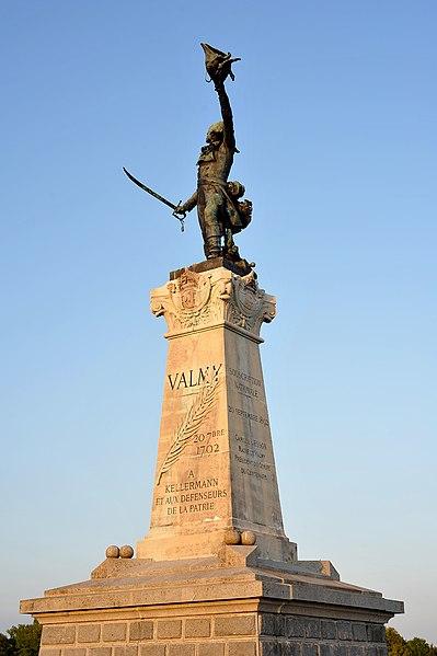 Monument of Marshal François Christophe Kellermann in Valmy; Marne, France.