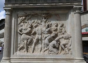 Monument to Giovanni delle Bande Nere, Florence - Bas relief of Base of San Lorenzo