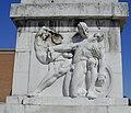 Monumento ai Caduti, bassorilievo della vita degli eroi di Bernardino Boifava rappresentante il Sacrificio.jpg
