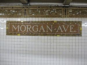 Morgan Avenue (BMT Canarsie Line) - Tilework