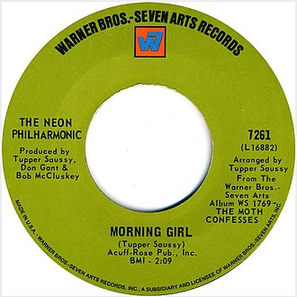 """The Neon Philharmonic - The 45 of the hit song, """"Morning Girl"""" by Neon Philharmonic from 1969."""