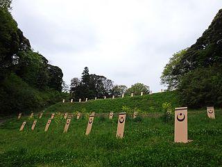Castle ruins in Inba District, Japan