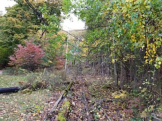 Mount Beacon Incline Railway - Image: Mount Beacon Incline Railway Track