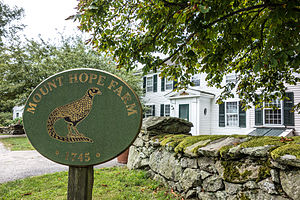 Mount Hope Farm - Image: Mount Hope Farm with sign 2013