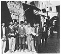 Mourning on Balfour Day 1929 in the Old City of Jerusalem, with a group of local Palestinians.jpg