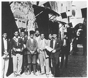 Balfour Day - Image: Mourning on Balfour Day 1929 in the Old City of Jerusalem, with a group of local Palestinians