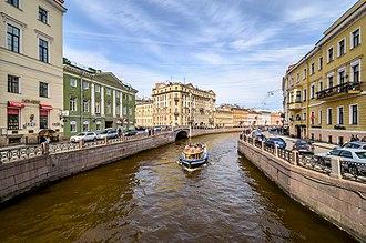 Moyka River - View of the Moyka from the Pevchesky Bridge
