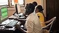 Mr. Karim Faida editing at Jamii FM Mtwara, Tanzania.jpg