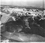 Muir Glacier, tidewater glacier terminus, remnents, and detatched east branch, August 31, 1977 (GLACIERS 5721).jpg
