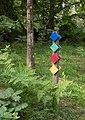 Multiple hiking trail marks in Gullmarsskogen.jpg