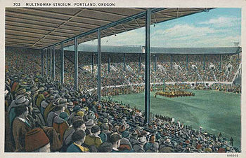 Before the city purchased the stadium, it was owned by the Multnomah Athletic Club Multnomah Stadium postcard.jpg