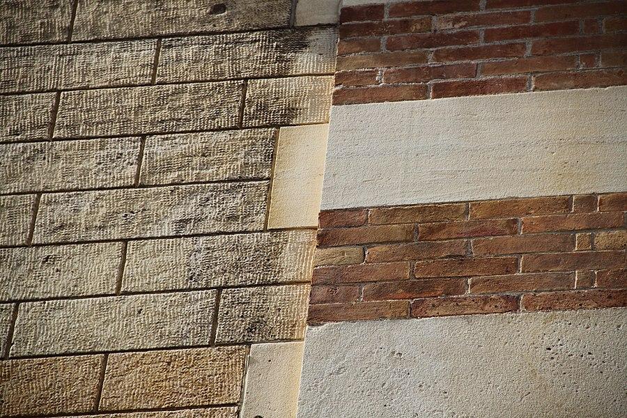Détail d'un des murs de la Villa Majorelle