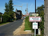 Murtin-et-Bogny (Ardennes) city limit sign Murtin.JPG