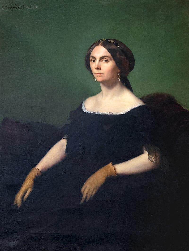 Музей Энгр-Бурдель - Портрет графини де Гойон, 1853 - Ипполит Фландрин - Joconde06070001772.jpg