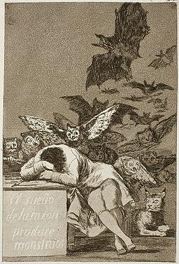 Museo del Prado - Goya - Caprichos - No. 43 – Il sonno della ragione produce mostri