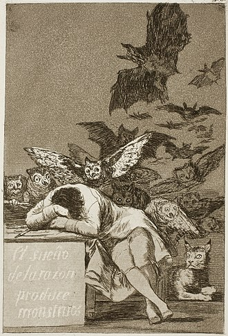 Malleus Maleficarum - The Sleep of Reason Produces Monsters, c. 1797, 21.5 cm × 15 cm.