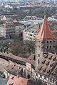 Nürnberg, Stadtbefestigung, Tiergärtnertorturm, Ansicht vom Sinwellturm-20160304-001.jpg