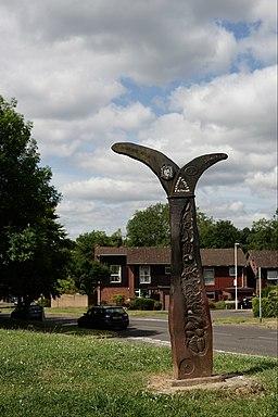 NCN Millennium Milepost MP42 East Grinstead