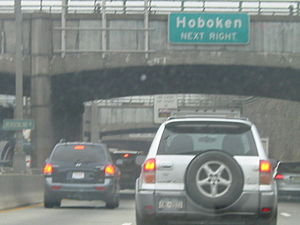 NJ 495 near the Hoboken exit.