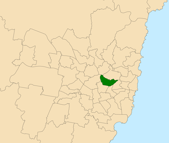 Electoral district of Drummoyne - Location within Sydney