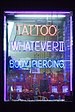 English: Tattoo parlor shop. New York City 2005