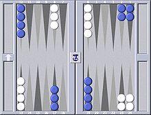 aufstellung backgammon