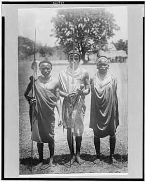 Nandi people - Three Nandi warriors, date unknown