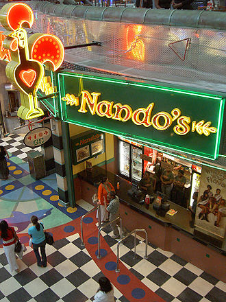 Nando's - Nando's take-away in Canal Walk Shopping Mall, Cape Town, South Africa