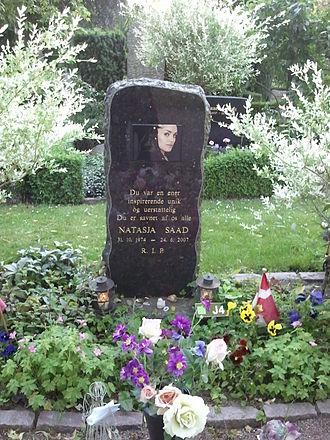 Natasja Saad - Natasja Saad's Gravestone at Assistens Kirkegård in Copenhagen, Denmark