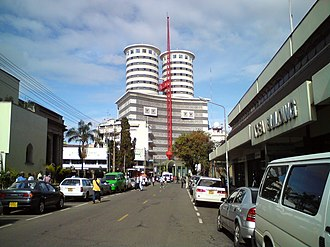 Daily Nation - Nation Center, headquarters of the Nation Media Group who publish the Daily Nation.