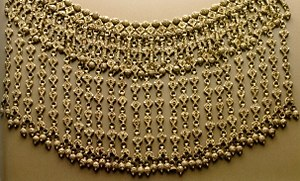 Yemenite silversmithing - Labbe Shabek (Great Necklace) from Sana'a, Yemen - 19th-20th century