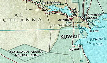 The Neutral Zone (along with Basra, Iran, Kuwa...