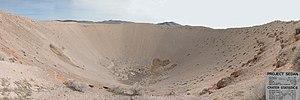 Sedan Crater - Image: Nevada Test Site Sedan Crater 8