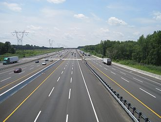 Robbinsville Township, New Jersey - The New Jersey Turnpike (I-95) as seen from Windsor Road in Robbinsville