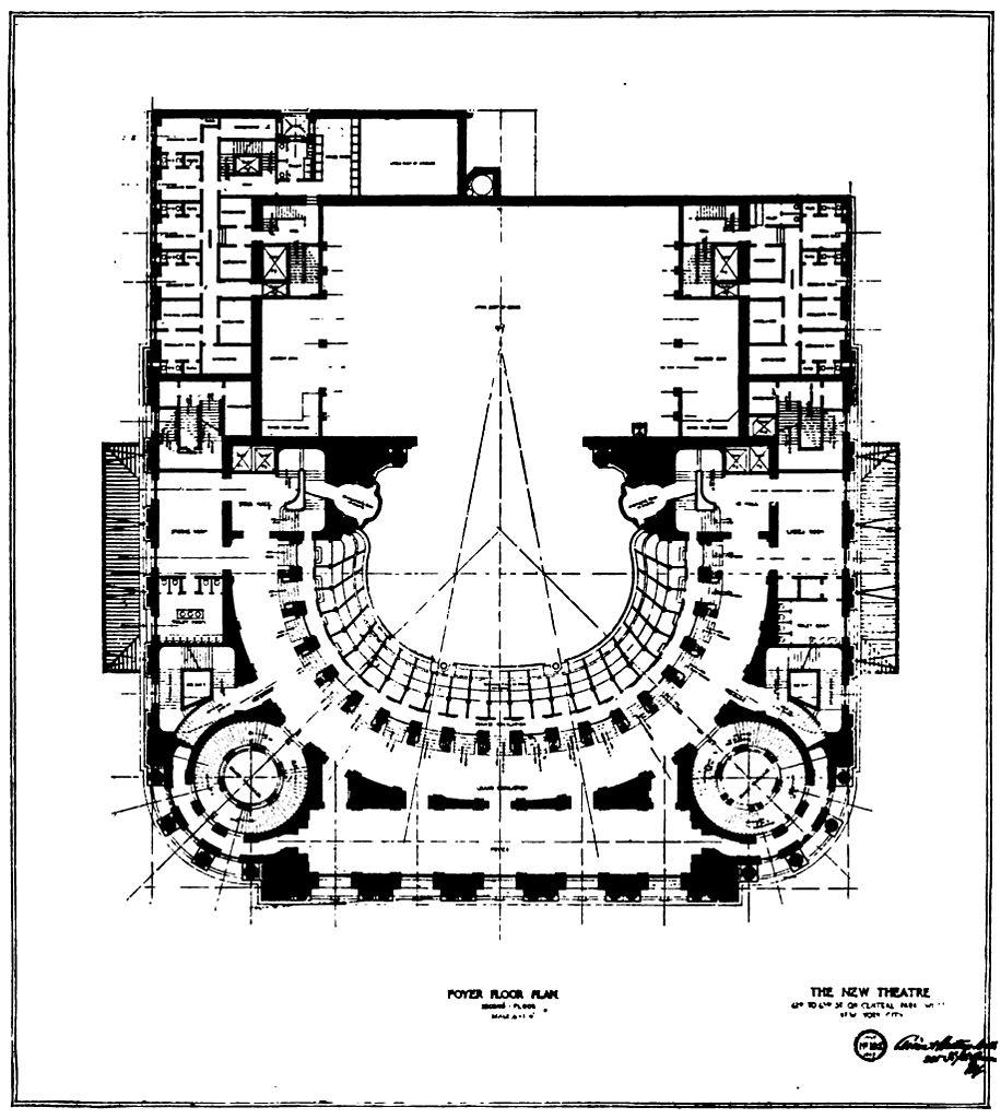 Foyer City Floor Plan : File new theatre foyer level floor plan the architect