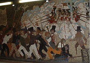 Chartist Mural - Detail from part of the mural